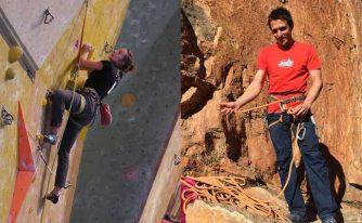 Margot et Mikka de sympathiques grimpeurs