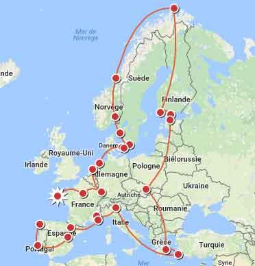 europe des sites d'escalade