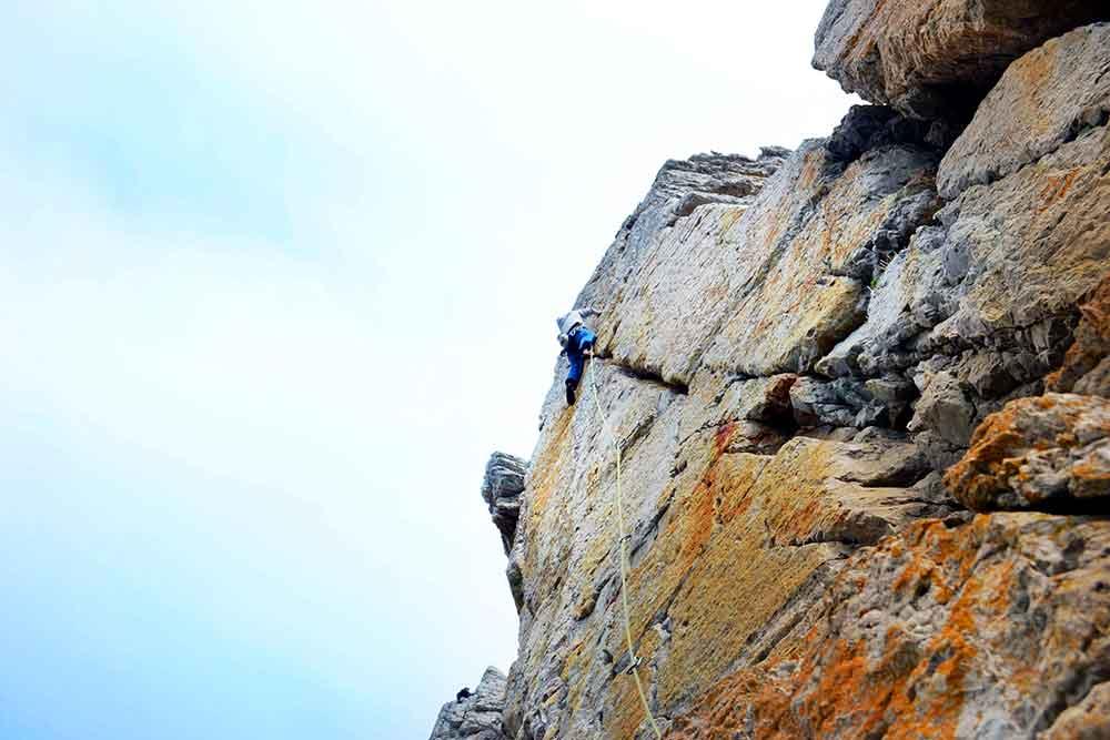voie d'escalade a pen-hir
