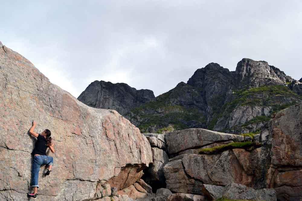 Presten-Boulders bloc vertical