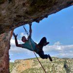 grimpeur Mika à Léonidio