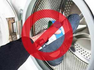 ne pas laver ses chaussons d'escalade en machine