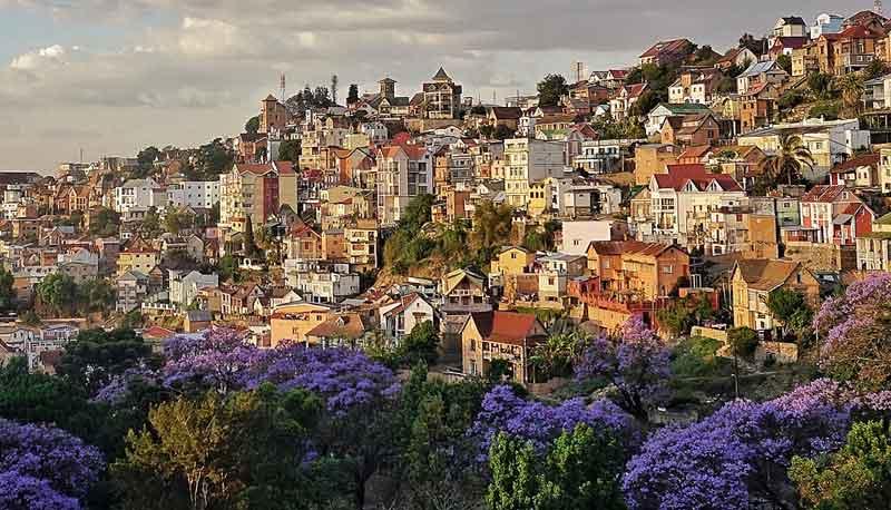 Antananarivo vue de l'hutel