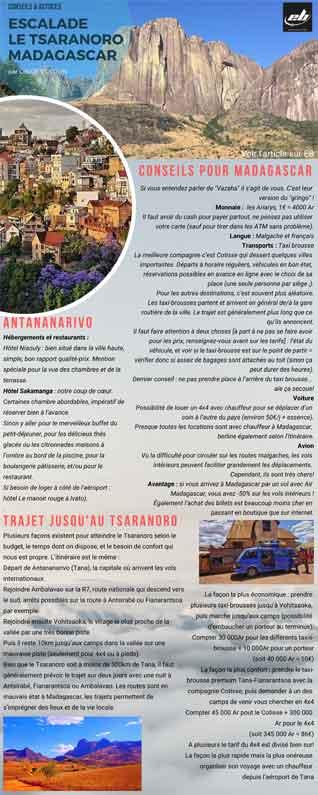 conseils et astuces pour aller grimper sur le tsaranoro a Madagascar