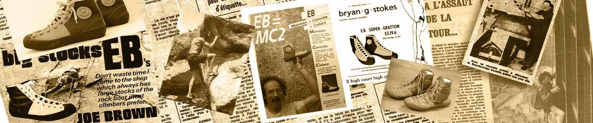 histoire chausson d'escalade EB: le premier de l'histoire de l'escalade