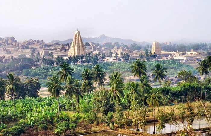 Les temples à Hampi.