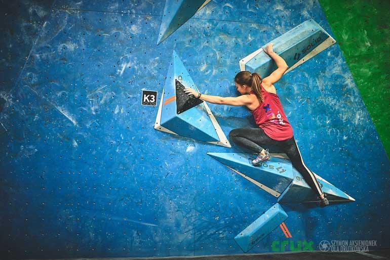 Daria Brylova grimpeuse en Pologne