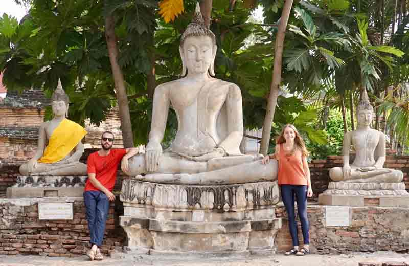 Les temples d'Ayutthaya.