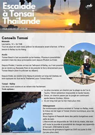escalade tonsai en thailande