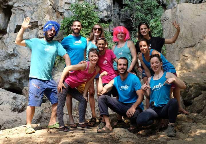 equipe de grimpeurs EB