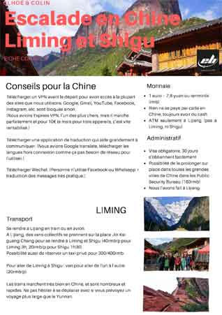 escalade chine liming et shigu