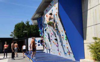 Mur d'escalade dans la villa Climbers House