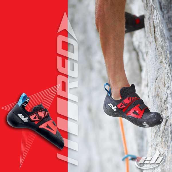 chausson escalade red pour la falaise ou le bloc