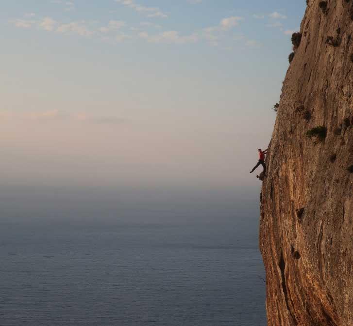 voie escalade Mur d'Epicure à calymnos